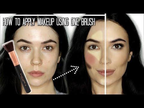 Makeup Tutorial  Full Face Of Makeup Using One Brush