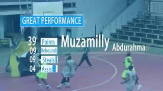 39pts, 9rbs, 9stls & 4 asts Muzamilly Abdurahman vs Kigamboni Heroes