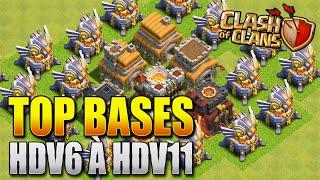 MEILLEURES Bases FARMING HDV 6 à 11 | Clash Of Clans FR