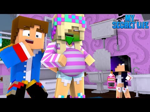 LITTLE DONNY'S EVIL DAUGHTER WANTS TO KILL PREGNANT LEAH!! Minecraft Adventure