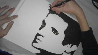how to draw elvis presley easy