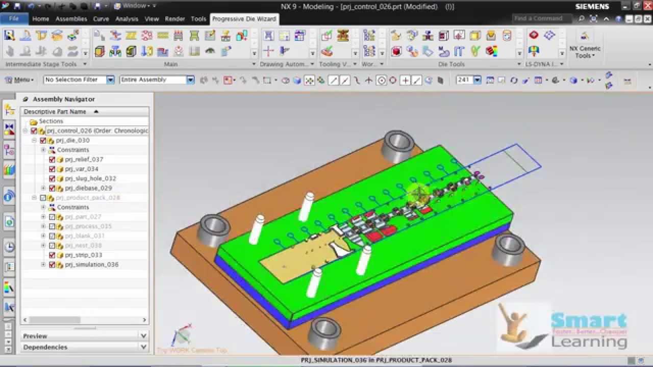 Progressive Die Design Sheet Metal Fabrication Using Nx 10