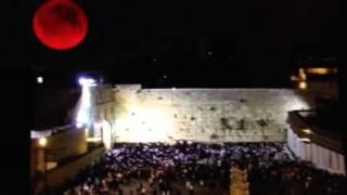 """Blood Moon Over Wailing Wall "" Jerusalem"