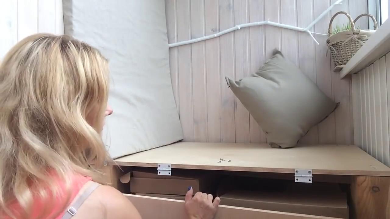 Переделка балкона: диван пол подушки final part - youtube.