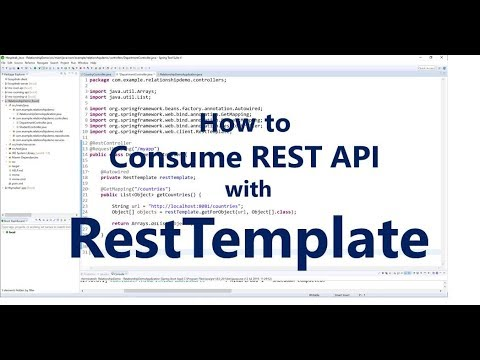 How to Consume Rest Web Service Using RestTemplate