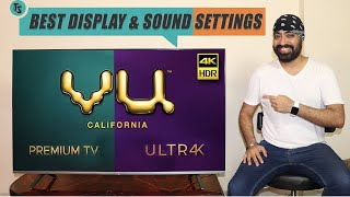 Best Display & Sound Settings for VU 4K Premium Android TV by TECH SINGH
