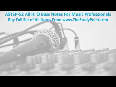 ASTSP52 All Hi Q Bass Notes For Music Professionals