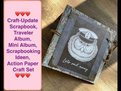 Diy Inspiration,Scrapbook,Action Traveler Album,Mini Album,Scrapbooking Ideen,Action Paper Craft Set