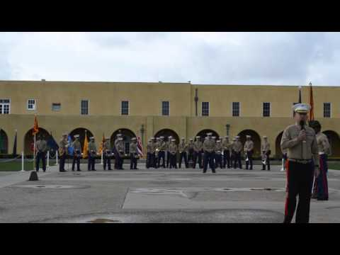 US Marine Morning colors ceremony part 2, Mike Co, 3rd BN, 12-11-15