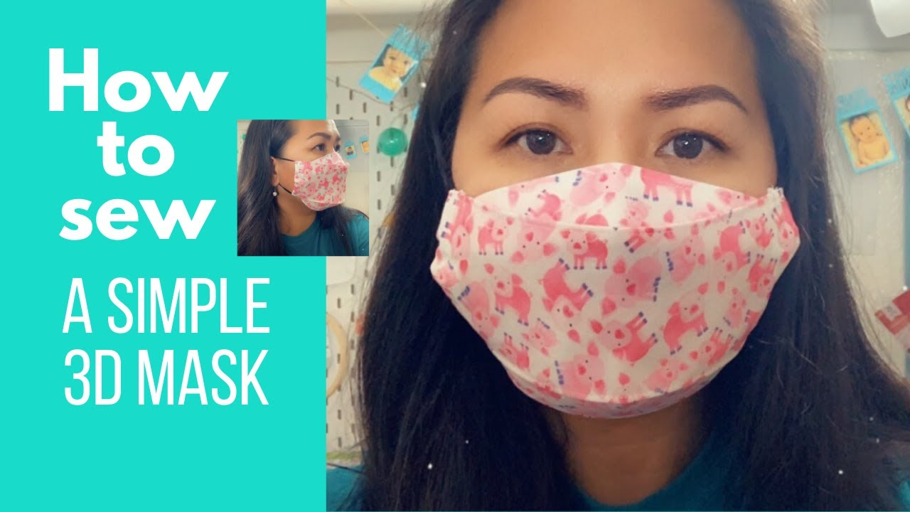 DIY Easy How to sew a 3D Mask Tutorial | Sew Easy