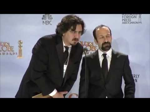 Asghar Farhadi Interview Golden Globe 2012 COMPLETE, best foreign language ّfilm