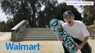 I Skated a Walmart Board For a Whole Day!