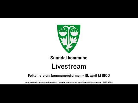 Folkemøte om kommunereformen - Sunndal kommune - 19. april kl 1900