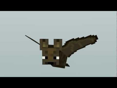 Flying Bat Minecraft Animation Youtube