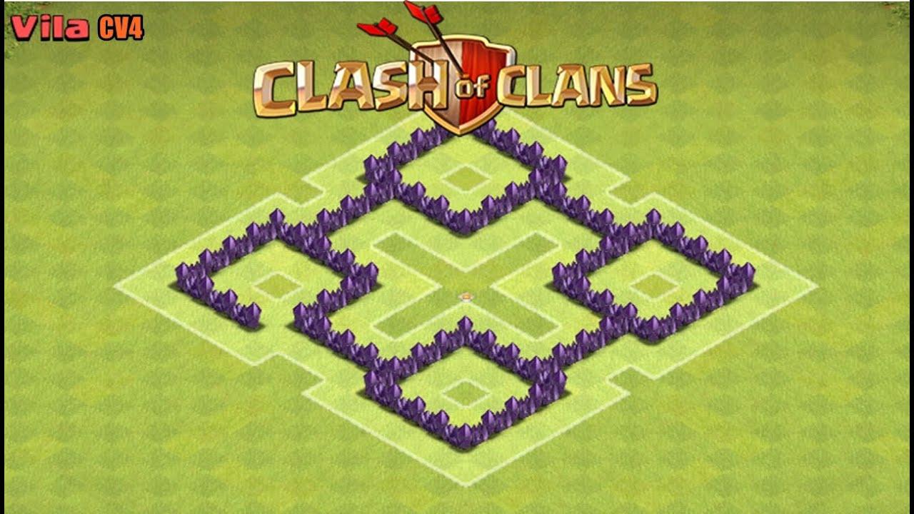 clash of clans melhor layout de farm para cv4 the best th4 farming base speed build - Layout Cv 4 Guerra