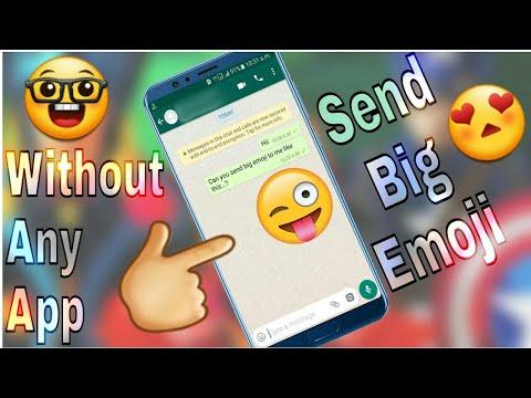 How to make emojis bigger on facebook