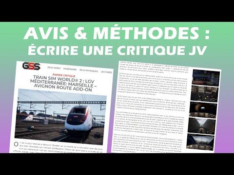 ÉCRIRE UNE (RAPIDE) CRITIQUE JV - Récap' de la Discussion en Live