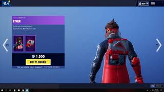 Fortnite Item Shop *NEW* Ether & Versa Skins set (May 18th/19th 2019)