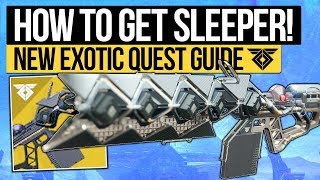 Destiny 2 | How To Get SLEEPER SIMULANT! Exotic Quest Guide & First Look at D2 Sleeper (Warmind DLC)