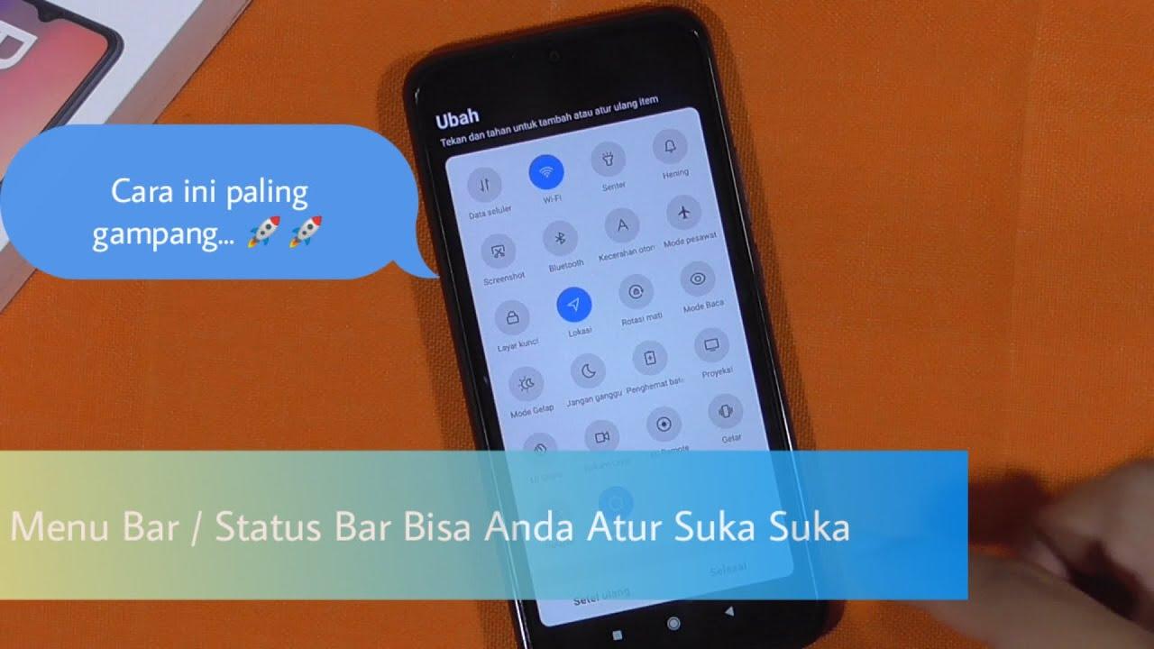 Cara Mengatur Susunan Status Bar Hp Xiaomi Redmi 9 Android 10 Terbaru Youtube