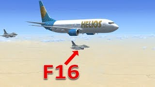 Tai nạn máy bay: Helios 522 và F16 tham gia ứng cứu_The Crash 2