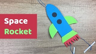 Paper DIY for kids SPACE Rocket craft l It can fly and its easy to make