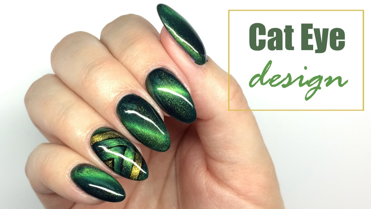 Cat Eye Design - Nail Art Tutorial || My Wonderland - Cat Eye Design - Nail Art Tutorial |My Wonderland - YouTube