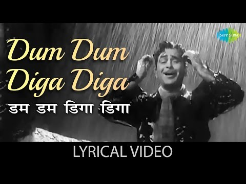 Dum Dum Diga Diga With Lyrics | डम डम डिगा डिगा गाने के बोल | Chhalia | Mukesh | Raj Kapoor | Nootan