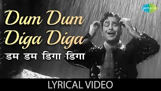 Dum Dum Diga Diga with lyrics | डम डम डिगा डिगा गाने के बोल | Chhalia | Raj Kapoor, Nootan