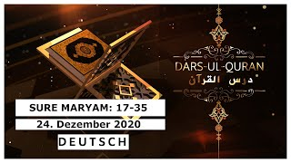 Dars-ul-Quran - Live | Deutsch - 24.12.2020