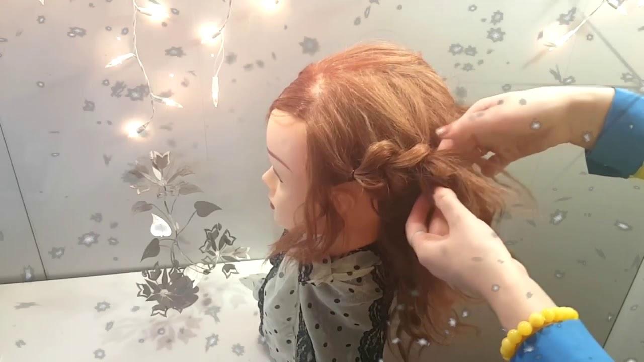 Прическа из резинок для средней длины волос причёска сердечки резиночки на каждый день