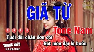 Karaoke Giã Từ Tone Nam Nhạc Sống   Trọng Hiếu