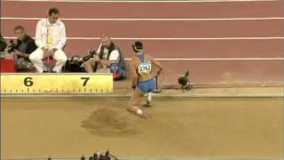 Прыжок в длину женщины Татьяна Лебедева 6,97 м  Пекин 2008