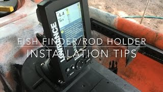 How To Install A Fish Finder And Rod Holders On A 4m Dragon Kayak