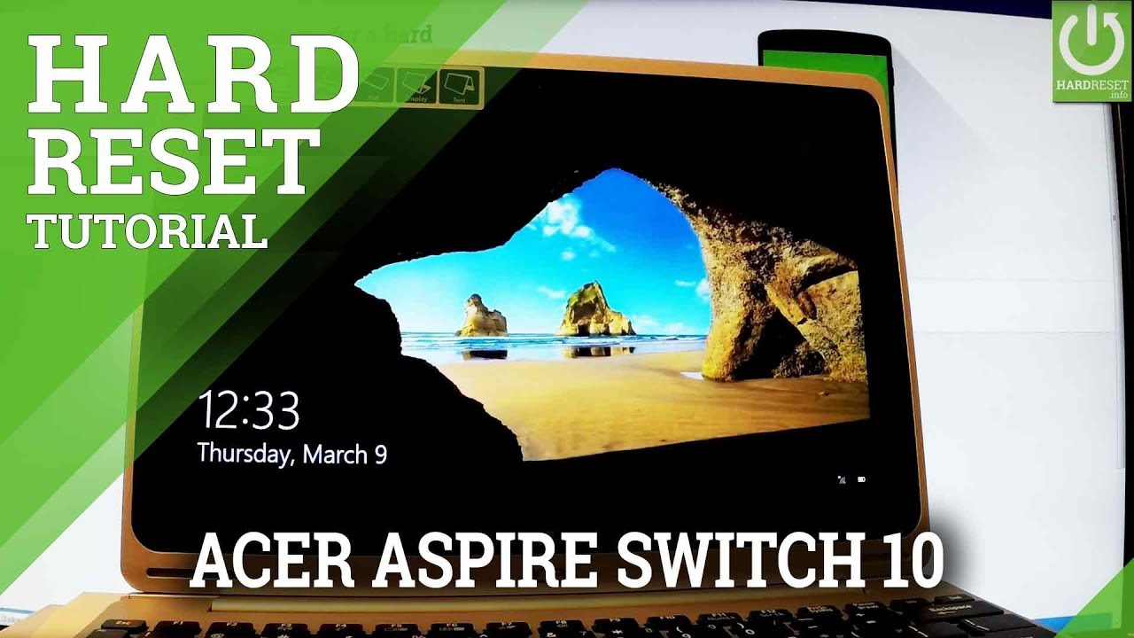 Remove Apps and Settings in ACER Aspire Switch 10 - Refresh Windows