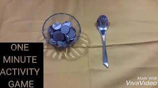 ONE MINUTE SPOON ACTIVITY GAME/FUN GAME FOR ALL PARTIES 👈💃