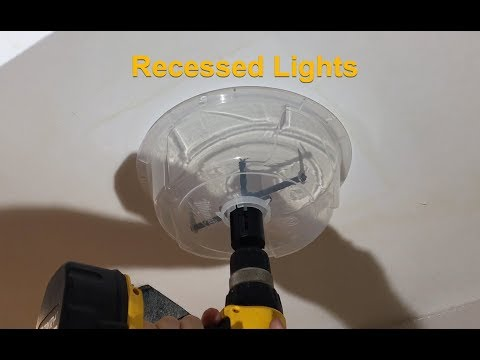 How to Install Recessed Can Lights - Milwaukee Hole Cutter