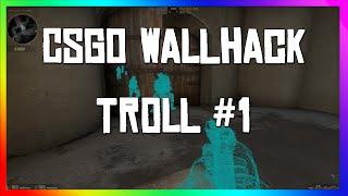 CSGO WALL HACK TROLL!?!?!?