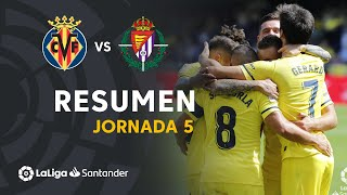 Resumen de Villarreal CF vs Real Valladolid (2-0)