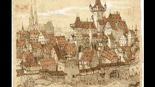 ''Навчальне посібник'' середньовіччя #1 Головна будівля - ратуша.