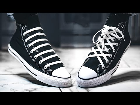 10 EASY WAYS How To Lace Converse Chuck Taylor All Star High Top