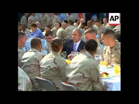WRAP Bush has breakfast with US Navy 5th Fleet, leaves Bahrain