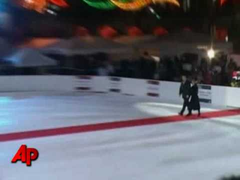 Raw Video: World's Largest Ice Rink Opens - YouTube
