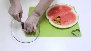 Сердца из фруктов и льда - летний десерт