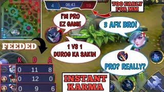 TRASHTAKER INSTANT KARMA | DON'T CELEBRATE TOO EARLY | 3 SUPER FEED | MOBILE LEGENDS