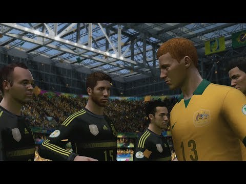 FIFA World Cup 2014: Australia vs Spain (Group B) Simulation (EA FIFA World Cup 2014 Brazil)