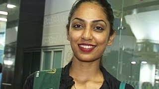 Sobhita Dhulipala returns to India after the Miss Earth 2013 pageant