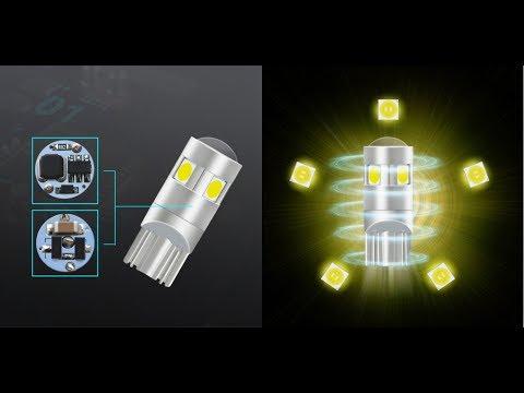 Супер яркие элитные Led лампы T10 W5W в габариты! Типа дневные ходовые огни)