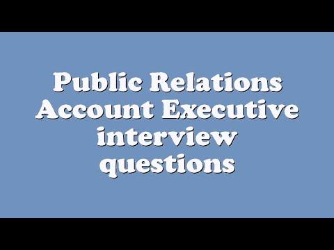Public Relations Account Executive interview questions