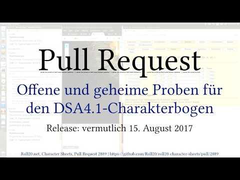 DSA4 1/Roll20] Proben offen und verdeckt würfeln